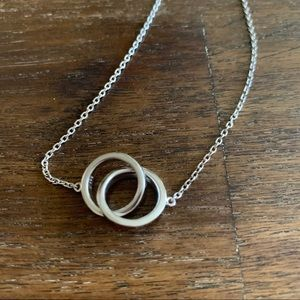 Blue Nile Sterling Silver Rings Necklace